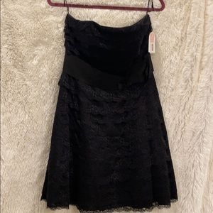 Jessica Simpson black lace dress